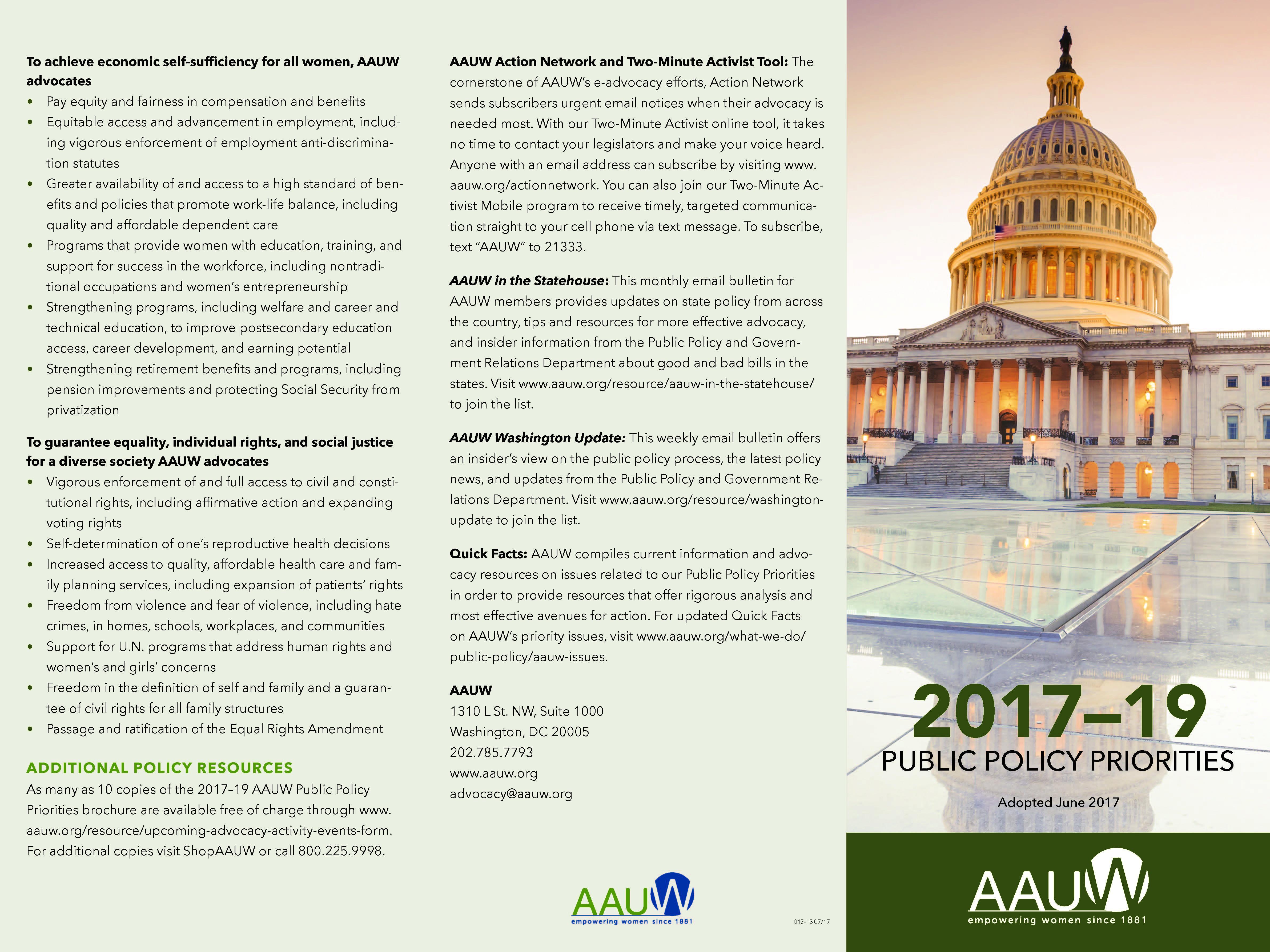 Download a copy of the public policy program brochure (PDF)